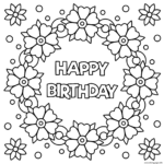 Free Coloring Pages For Happy Birthday