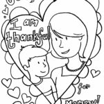 Coloring Pages For Mothers Day Cards