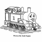 Thomas The Train Coloring Pages Momjunction
