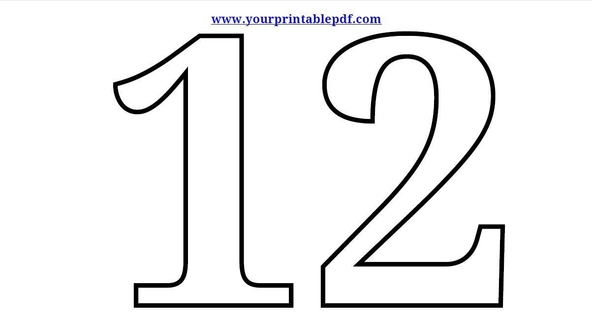 Coloring Numbers 11-20 With Free Coloring Pages Of Numbers ...