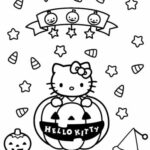 Hello Kitty Witch Coloring Pages