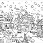 Hard Christmas Coloring Pages Printables