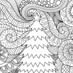 Full Page Free Printable Christmas Coloring Pages For Adults