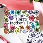 Printable Mothers Day Coloring Cards