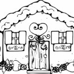 Printable Christmas Coloring Pages Gingerbread House