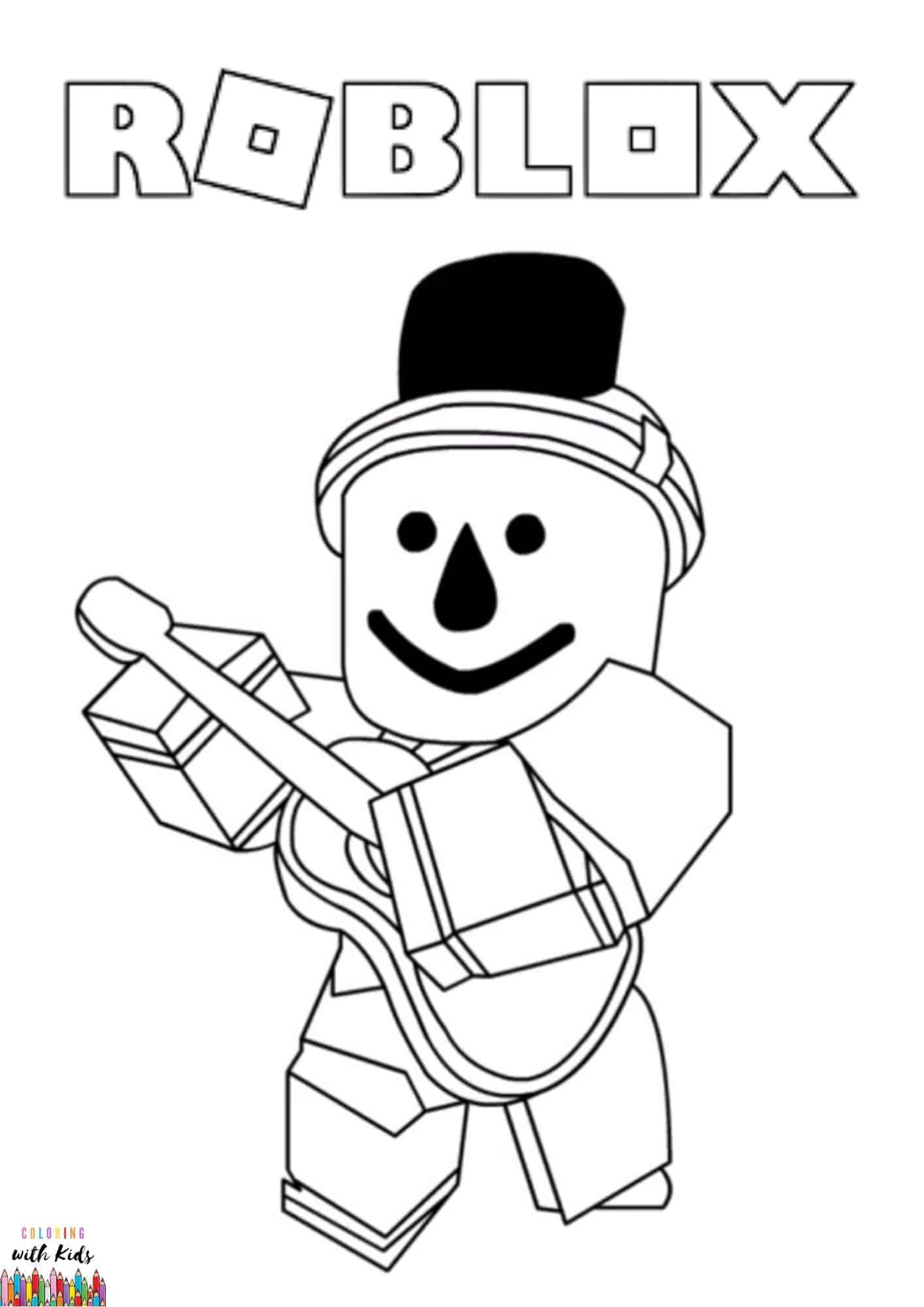 Roblox Cartoon Coloring Page   coloringwithkids.com