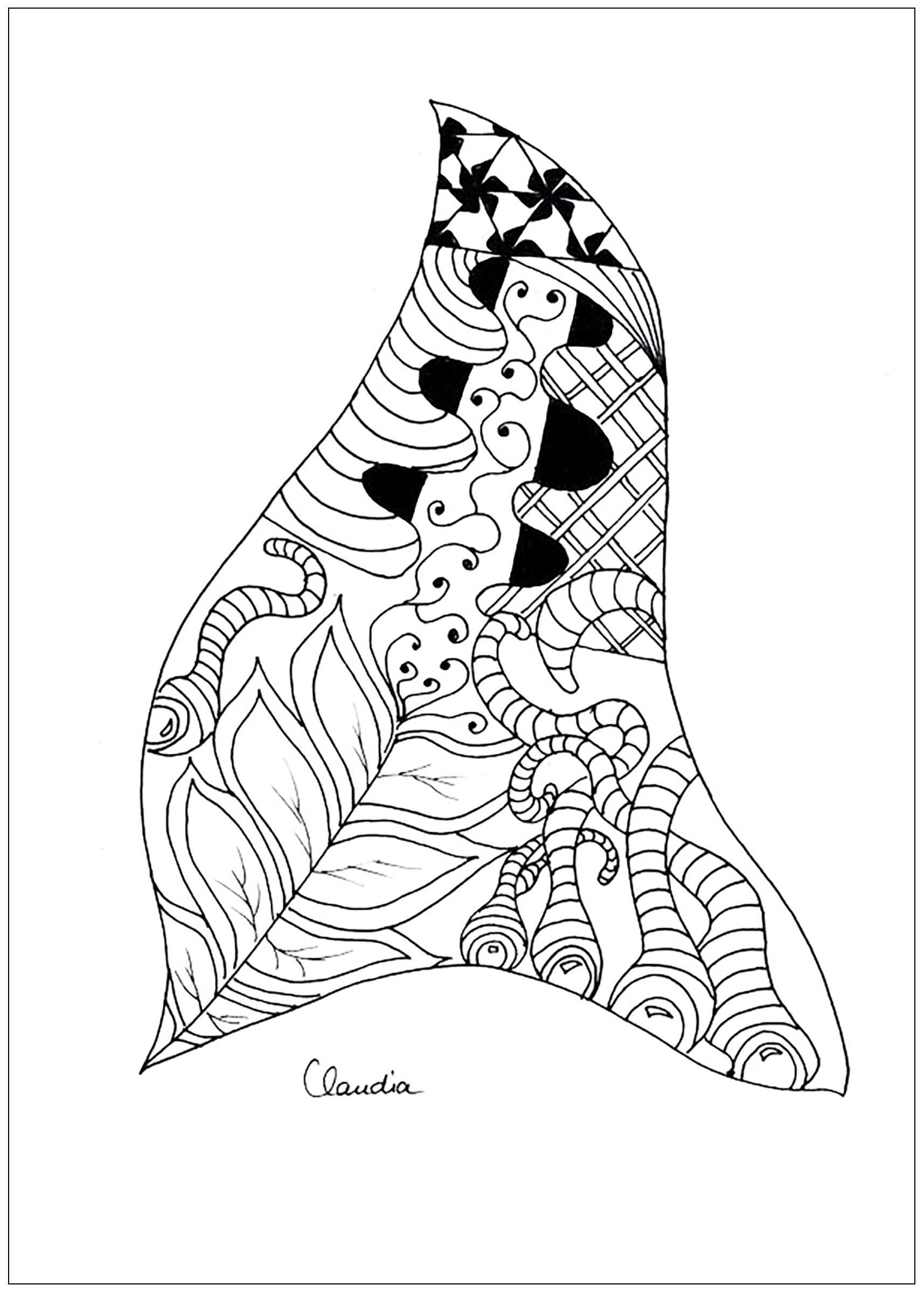 Zentangle simple - Zentangle Adult Coloring Pages - Page 3