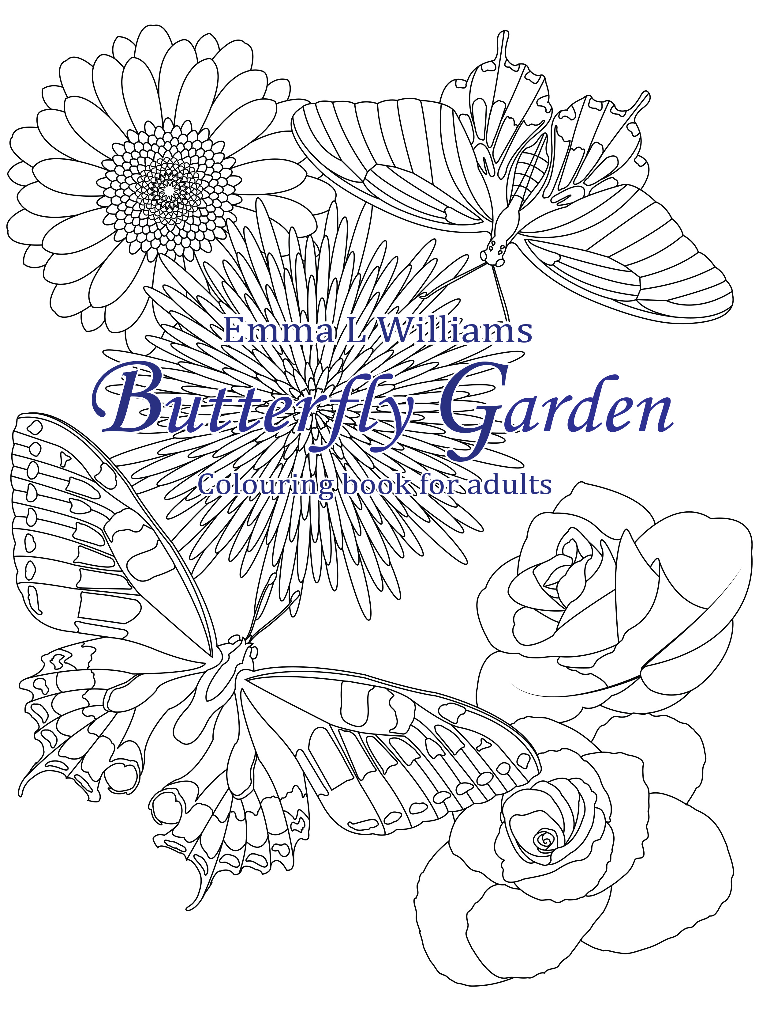 Butterfly garden - Butterflies & insects Adult Coloring Pages