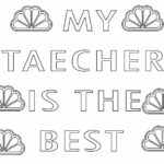 Teacher Appreciation Week 2021 Coloring Pages Printable