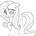 My Little Pony Fluttershy Printable Coloring Pages