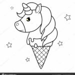 Coloring Pages Unicorn Ice Cream