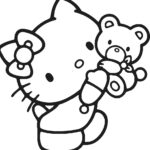 Hello Kitty Gymnastics Coloring Pages