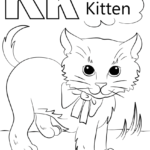 Coloring Page Letter K Printable