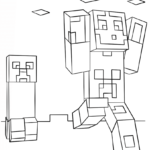 Coloring Pages Minecraft Creeper