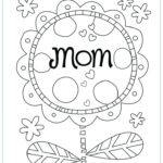 Mother's Day Colouring Pages Printable Uk
