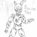 Free Printable Springtrap Coloring Pages