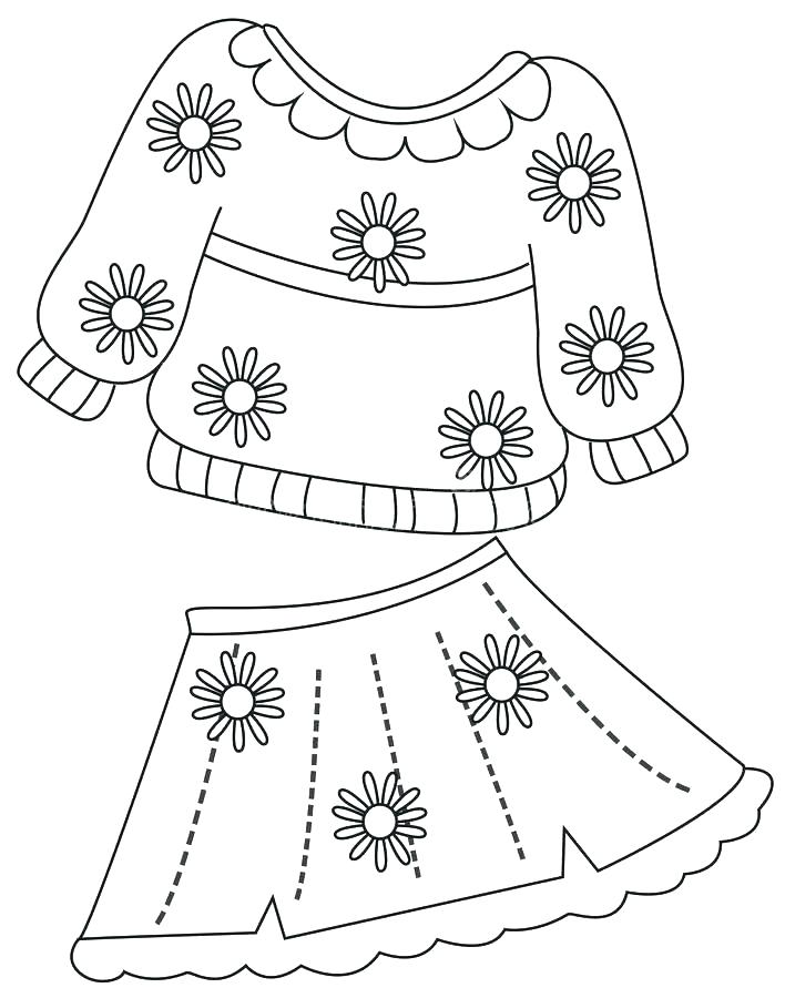 Girl Clothes Coloring Pages at GetColorings.com | Free ...