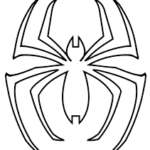 Spiderman Coloring Outline