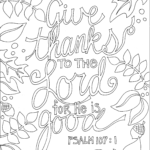 Scripture Coloring Pages For Adults Pdf