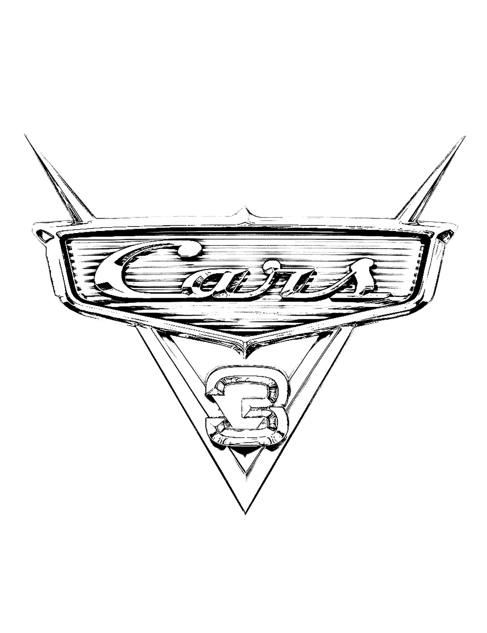 Cars 3 to color for kids - Cars 3 Kids Coloring Pages