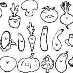 Coloring Book Pictures Of Vegetables