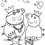 Printable Peppa Pig Family Coloring Pages