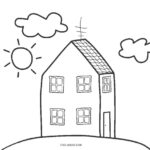 Coloring Pages Printable House