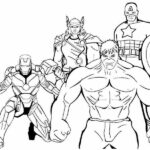 Printable Easy Avengers Coloring Pages