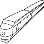 Coloring Page High Speed Train