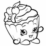 Coloring Pages Shopkins Cupcake