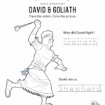 Free Bible Coloring Pages David And Goliath