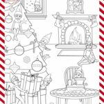 Elf On The Shelf Pets Coloring Pages