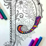 Alphabet Zentangle Coloring Pages