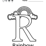 Letter R Coloring Pages Printable
