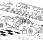Coloring Pages For Race Cars