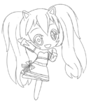 Coloring Pages Gacha Life Drawings