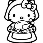 Hello Kitty Summer Coloring Pages