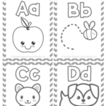 Printable Coloring Alphabet Flash Cards