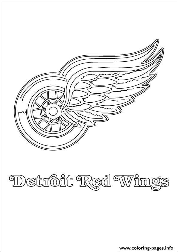 Detroit Red Wings Logo Nhl Hockey Sport Coloring Pages ...
