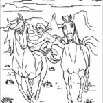 Printable Spirit Horse Coloring Pages