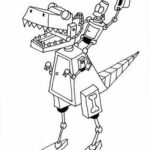 Dinosaur Robot Coloring Pages
