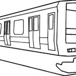 Train Coloring Page Template
