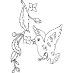 Printable Coloring Pages+Birds And Flowers