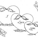 Printable Coloring Pages Of Hearts And Roses