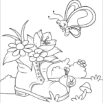 Free Coloring Pages For Flowers And Butterflies