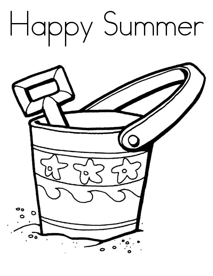 Download and Print happy summer coloring pages printable ...