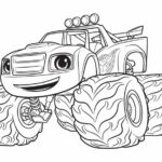 Blaze Monster Truck Printable Coloring Pages