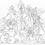 Disney Villains Characters Coloring Pages