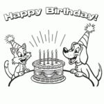 Birthday Coloring Pages Printable Free