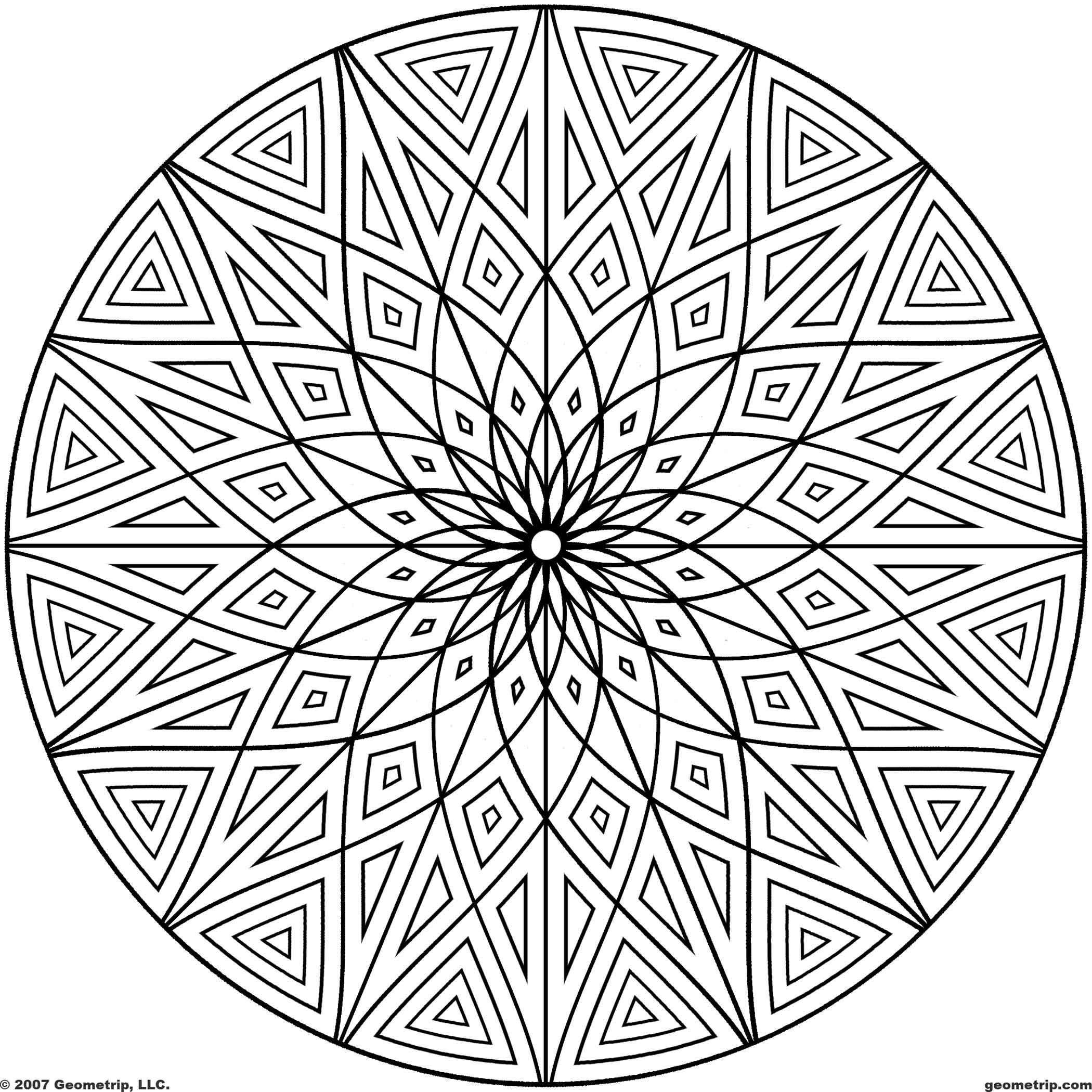 Free Printable Coloring Pages For Adults Geometric at ...